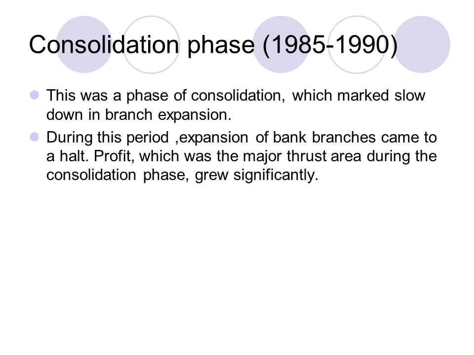 Consolidation phase (1985-1990)