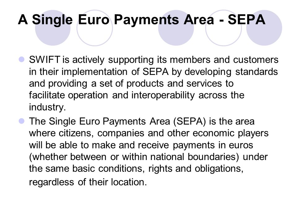 A Single Euro Payments Area - SEPA