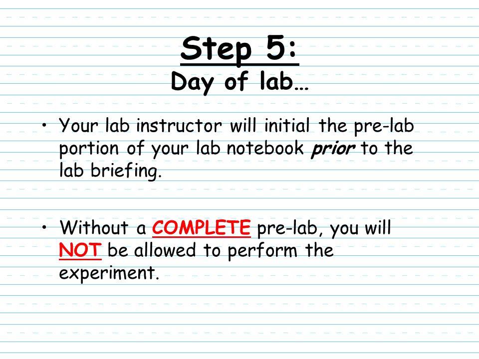 Organic Chemistry Laboratory Notebook Maintenance - ppt download