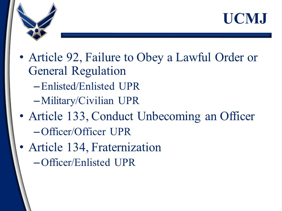 article 92 ucmj essay Read this essay on article 92 of the ucmj come browse our large digital  warehouse of free sample essays get the knowledge you need in.