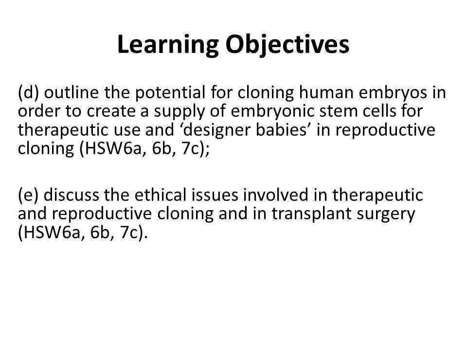 the question of what happens when a human cloning procedure is unsuccessful Read the excerpt below from the source material and the bibliography card answer the question that follows excerpt from human cloning and genetic - 8495370 1 log in join now 1 log in join now high school therapeutic cloning uses the cloning procedure to produce a clonal embryo.