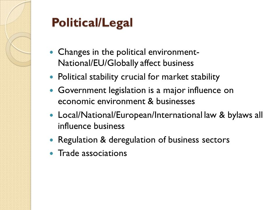 political factors government that affect the grocery industry Pest analysis stands for political, economic, social, and technological  the  sales of computers towards the greek market are collapsing for the last three  months  are influenced by political and government policy, being a major  influence.