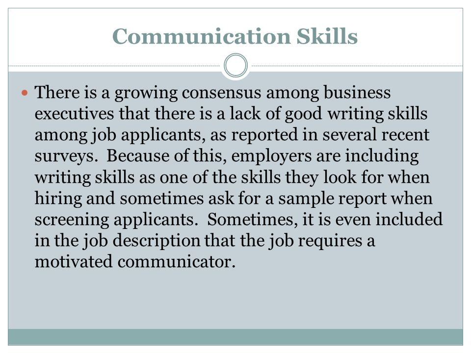 report writing skills sample