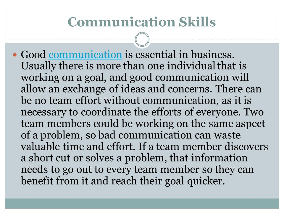 essay about good communication skills