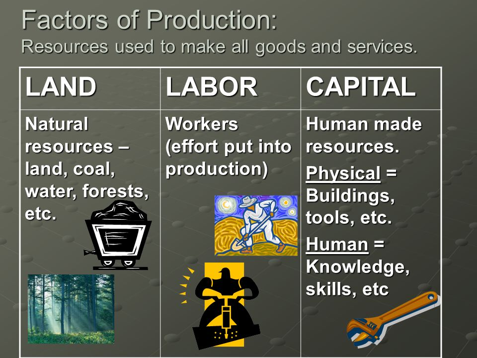 Natural Resources Used In The Production Of Goods And Services