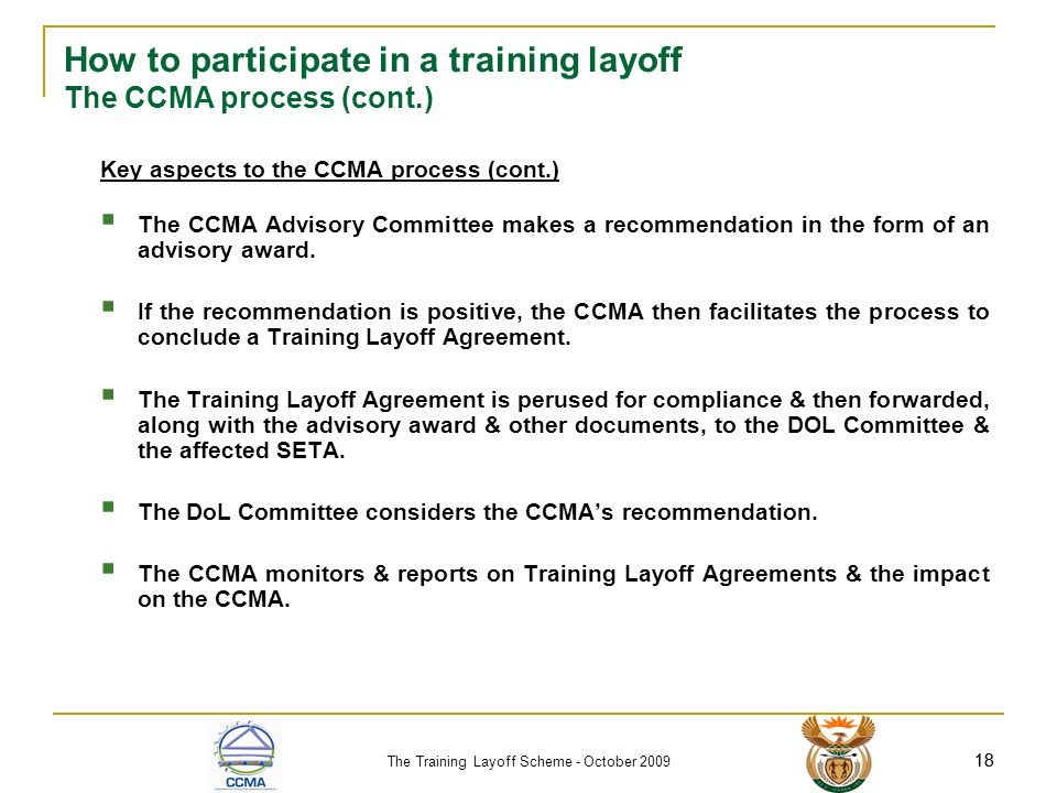 The Training Layoff Scheme - Ppt Download