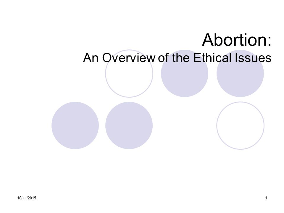 an analysis of the ethical issues in abortion
