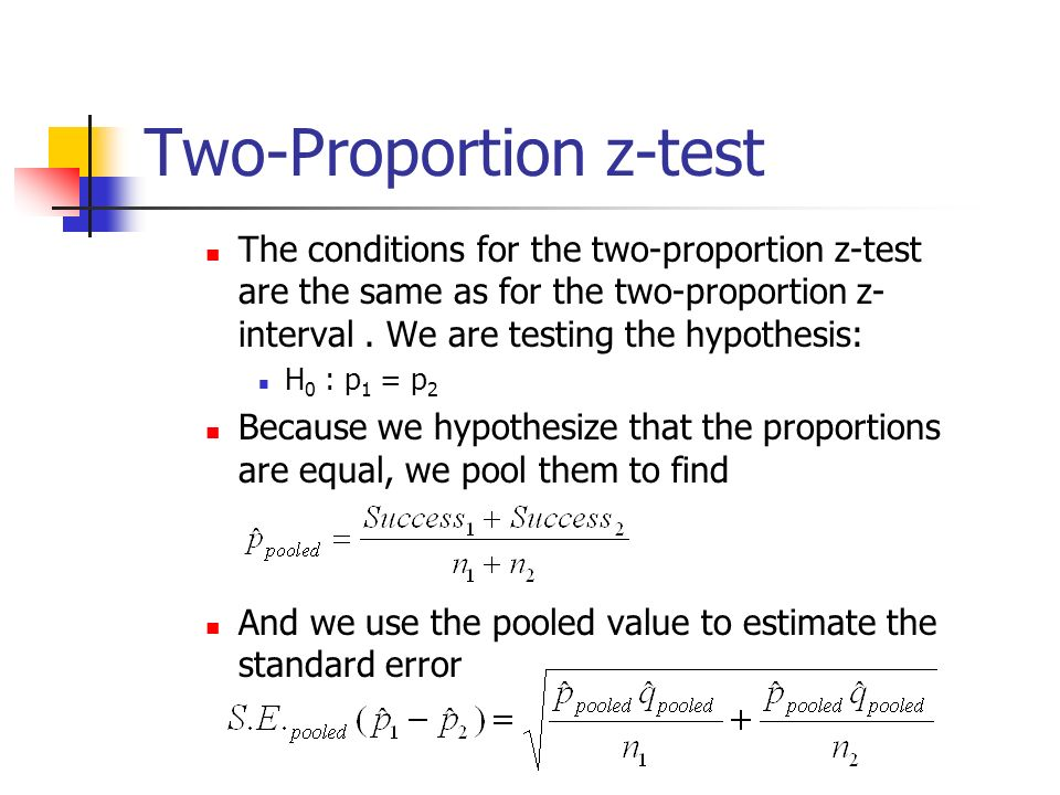 how to use a z test