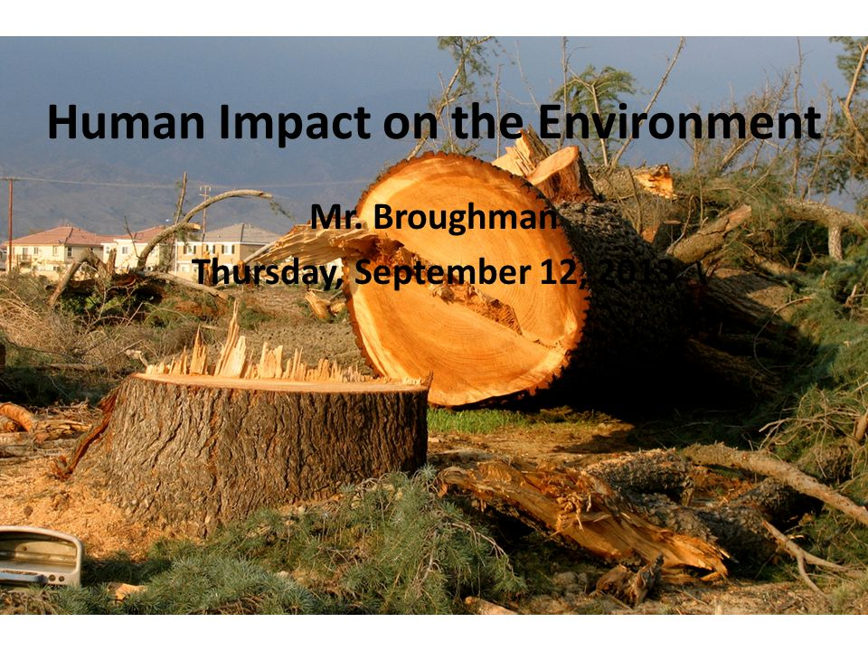 human impact on the environment Sabrina mccormick, phd, is a sociologist, filmmaker, and an associate professor  of environmental and occupational health for milken institute.