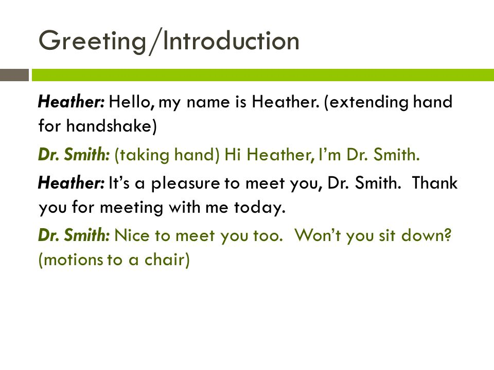 nice to meet you by smith