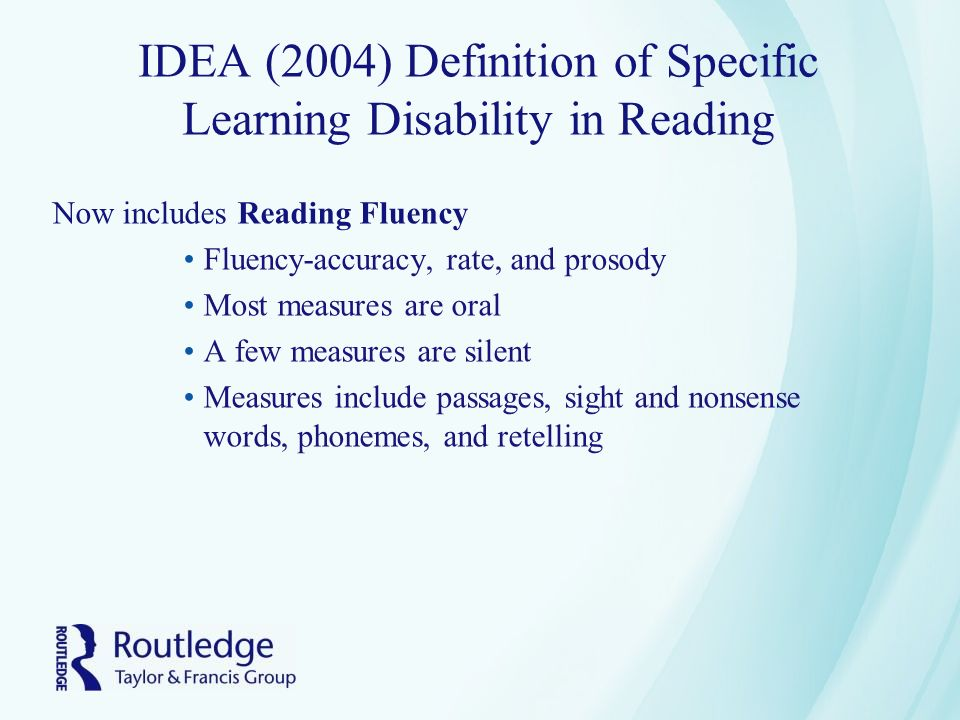 learning disability definitions Primarily because the child has an emotional disturbance, as defined in  (10)  specific learning disability means a disorder in one or more of the basic.
