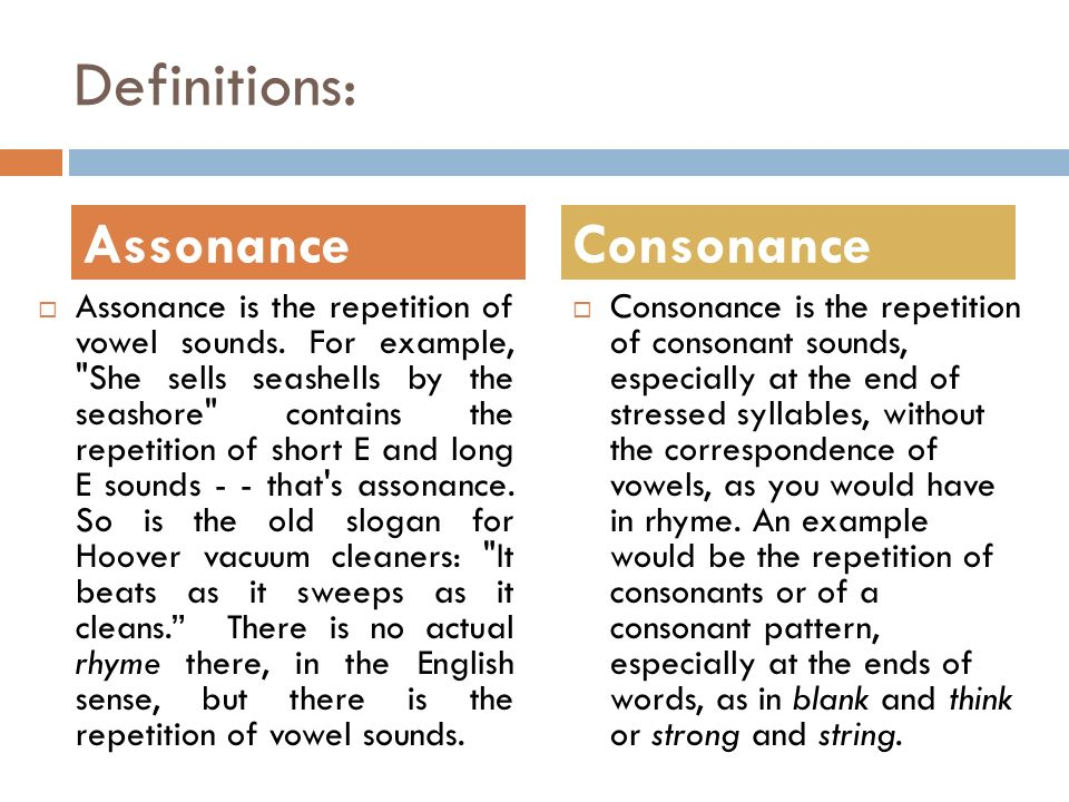 How to write assonance / STONELONGING.CF