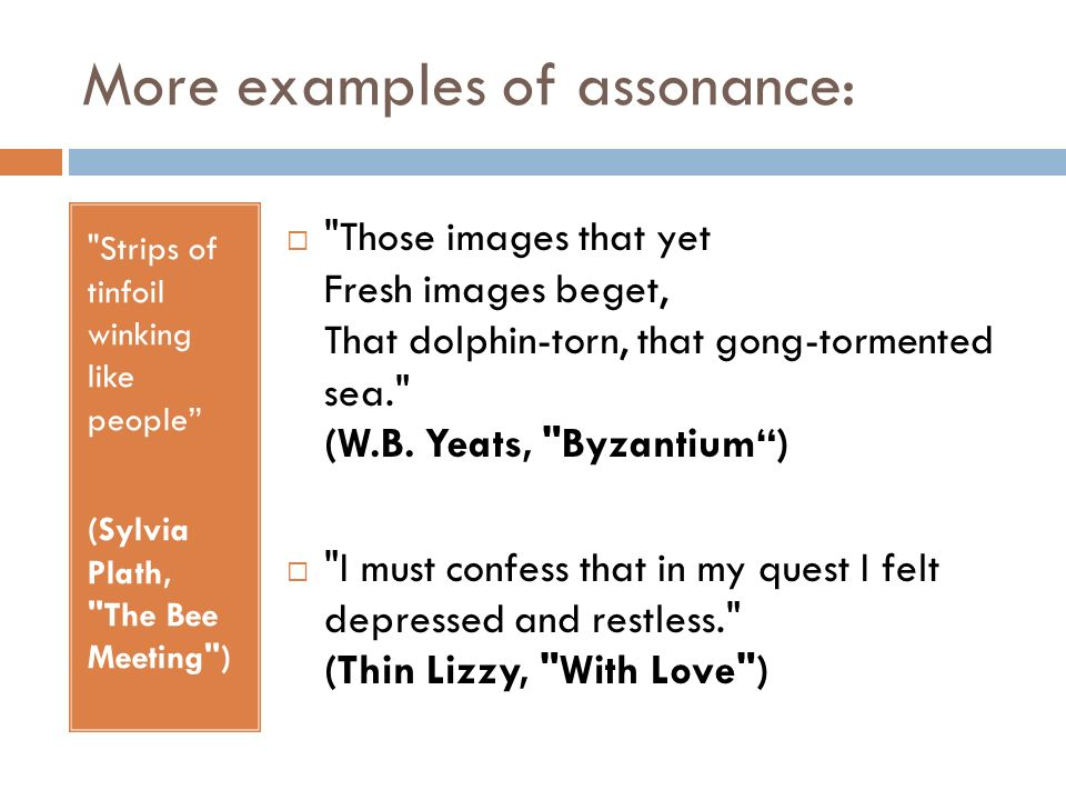 Assonance, consonance and dissonance - ppt video online download