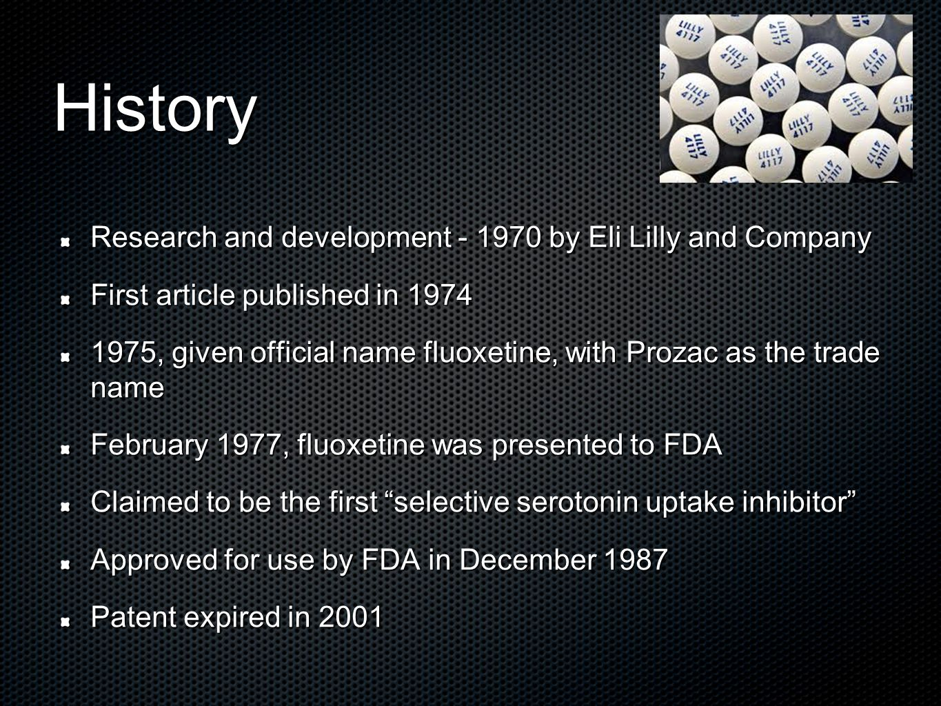 Lilly Prozac Loses Patent