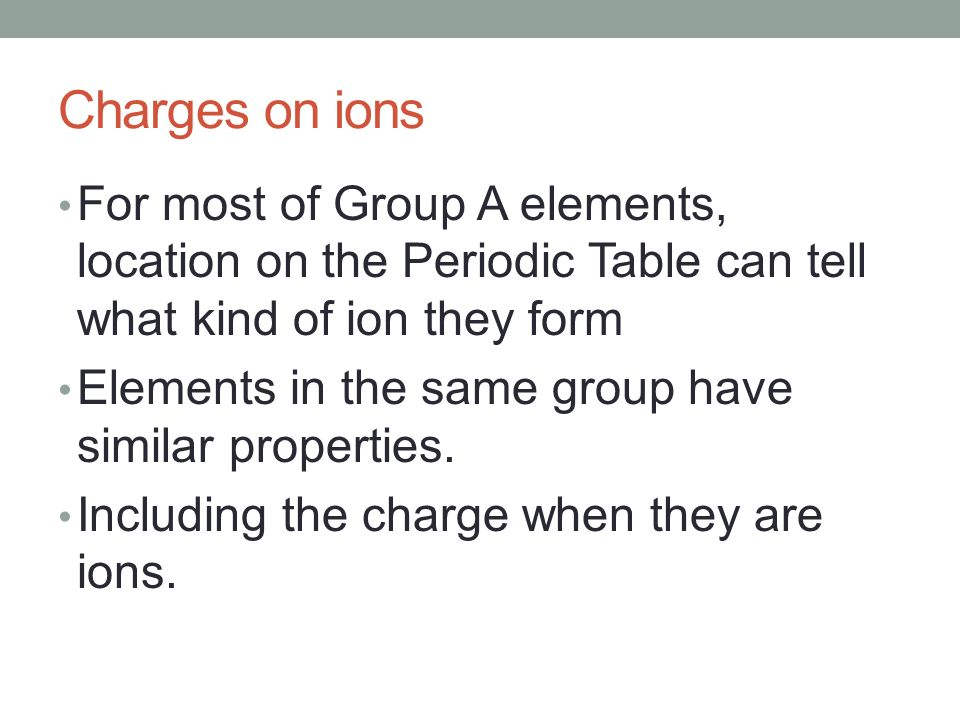 how to tell if an element has 2 charges