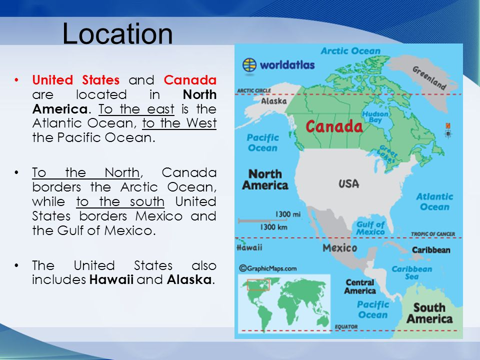 Chapter The United States And CanadaPhysical Geography Ppt - Canada and us map with atlantic ocean