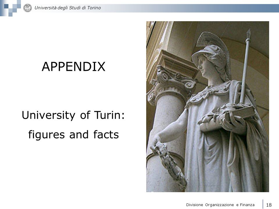 APPENDIX University of Turin: figures and facts 18