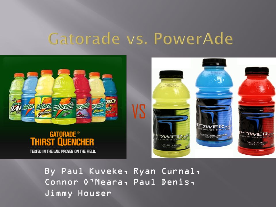 gatorade vs powerade pricing In this term paper i first give introduction of gatorade company and then its expansion into international market.
