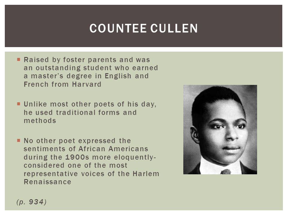 """the heritage concept by countee cullen during the harlem renaissance Both poems """"tableau""""(1348) and """"incident""""(1348) were published in 1925 by countee cullen during the period of harlem renaissance he played a significant role representing some of the main themes in that period by producing some of the most catching lyrics of that time."""