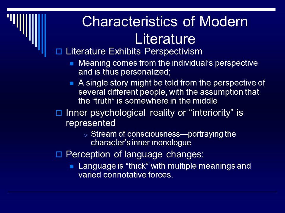 characteristics of modern poetry pdf