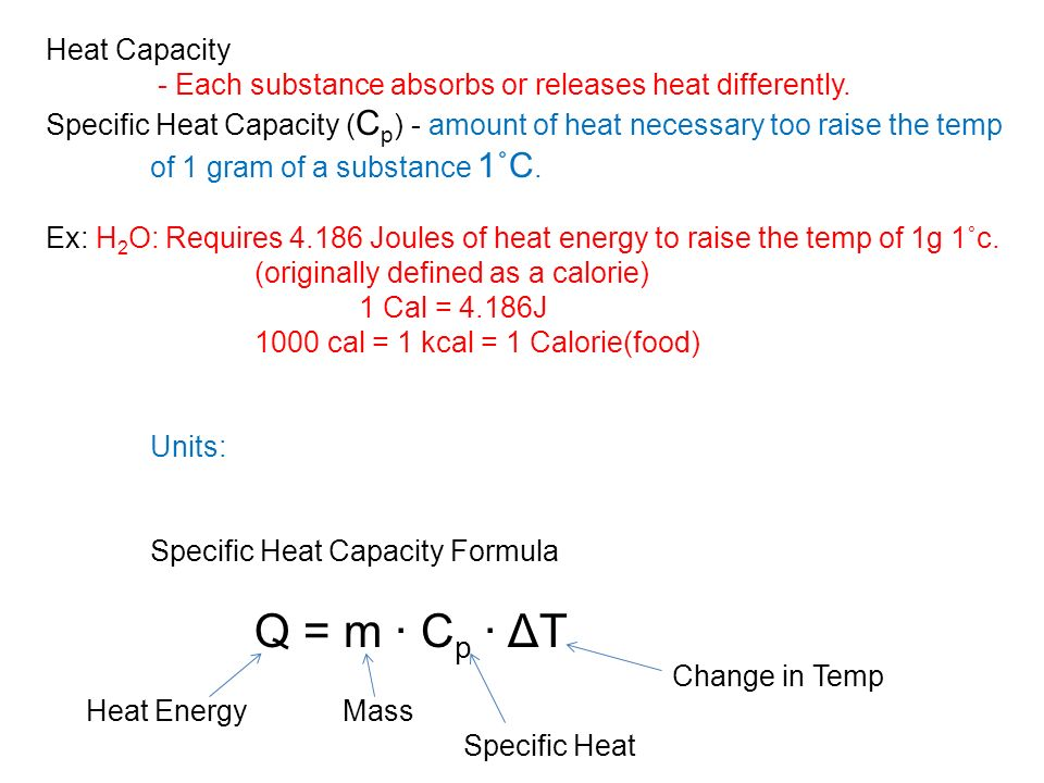Ch17 thermochemistry ch17 1 temp vs heat ppt download for Specific heat table j gc