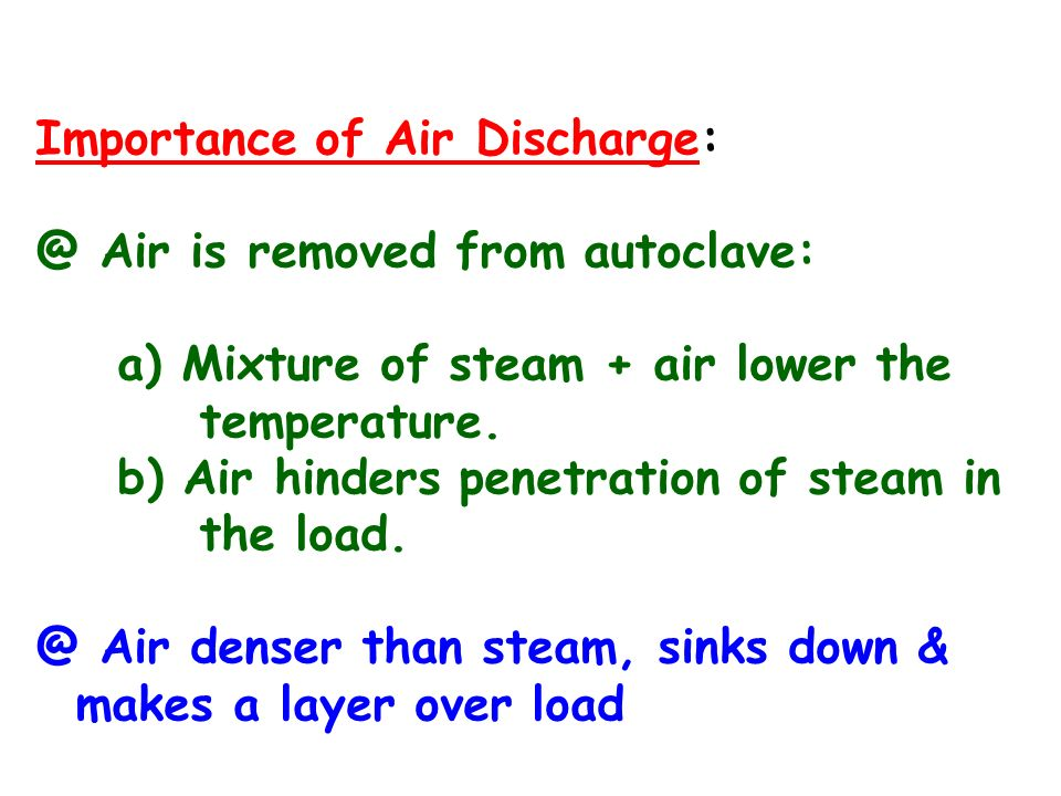 Importance of Air Discharge: