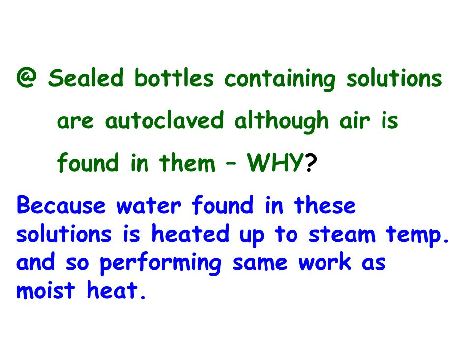 @ Sealed bottles containing solutions