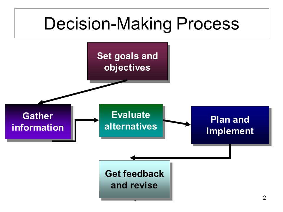 Decision-Making Strategies for Plan Implementation