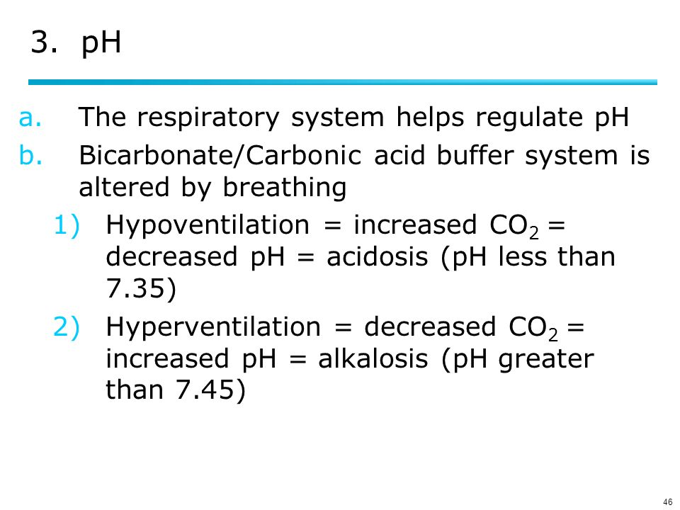 hyperventilation co2 and ph relationship
