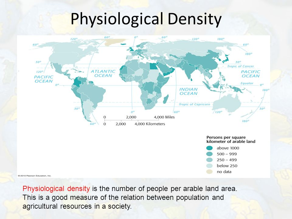 area and density relationship