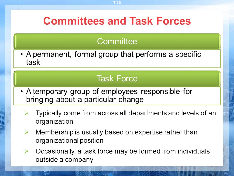 Committees and Task Forces