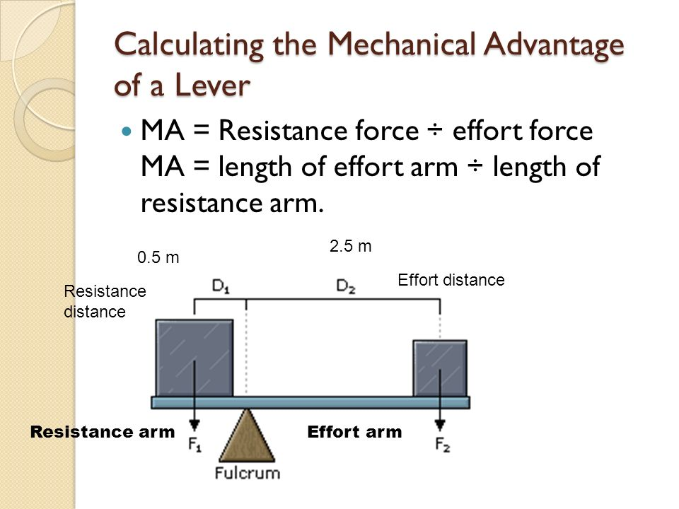 how to find the mechanical advantage of a lever