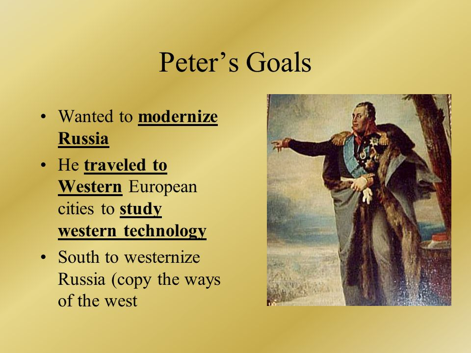 peter the great the creator of the golden age of russia Peter the great (peter i of russia) (1672-1725) of the house of romanov, (years of reign: 1682-1725), first emperor of russia one of russia's greatest statesmen through a number of successful wars he expanded the country into a much larger empire that became a major european power.