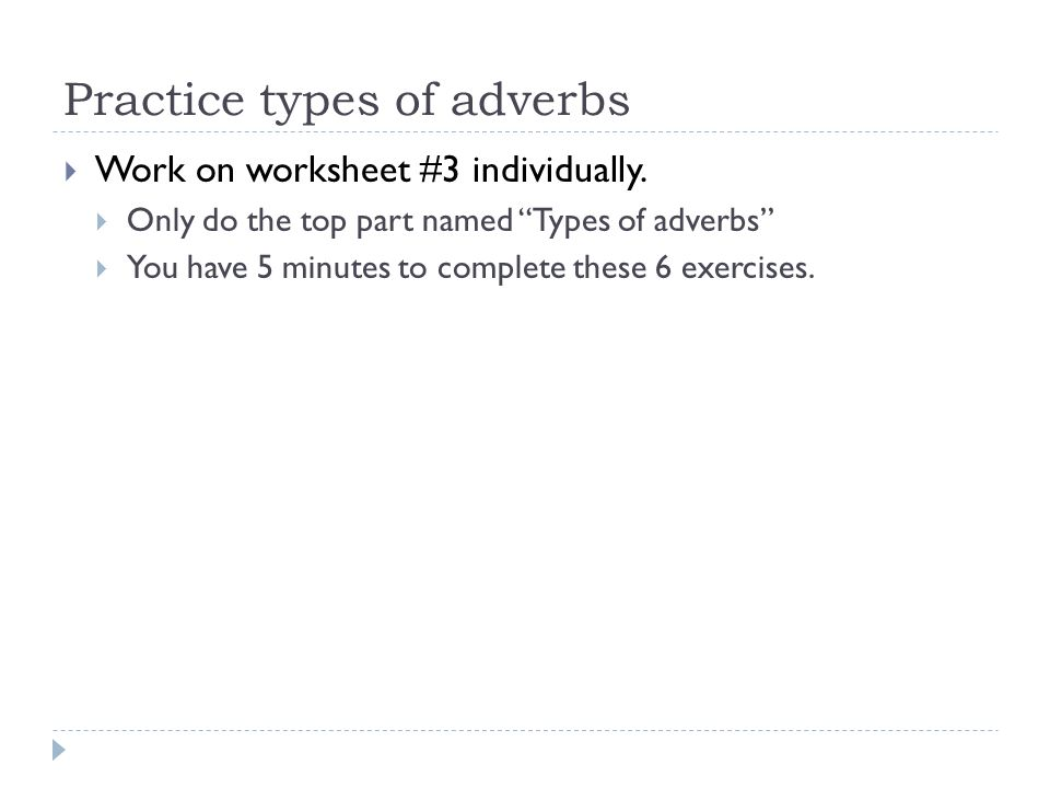 Adjectives and Adverbs ppt video online download – Adverb Practice Worksheet