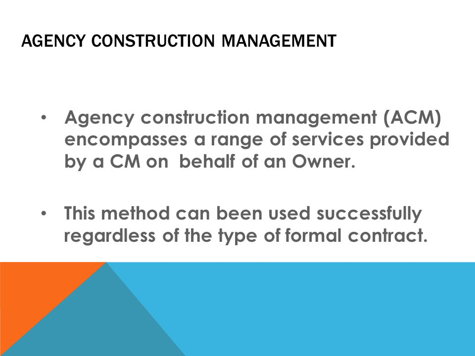 Agency construction management cm not at risk ppt video for Agence construction