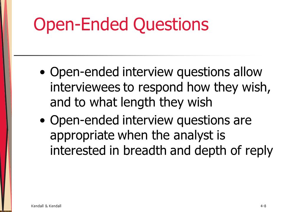 effective uses of open ended questions
