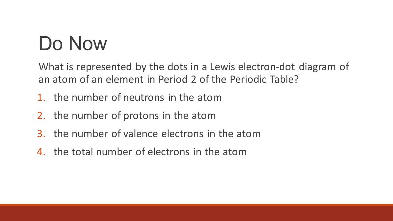 do now what is represented by the dots in a lewis electron dot