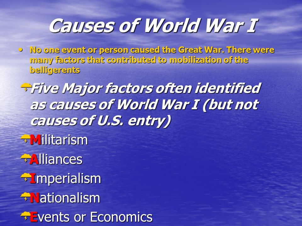 how was nationalism the most important cause of world war one World war one was a colossal step forward in terms of modern war there are other more important causes of the war causes of ww1 essay outline.