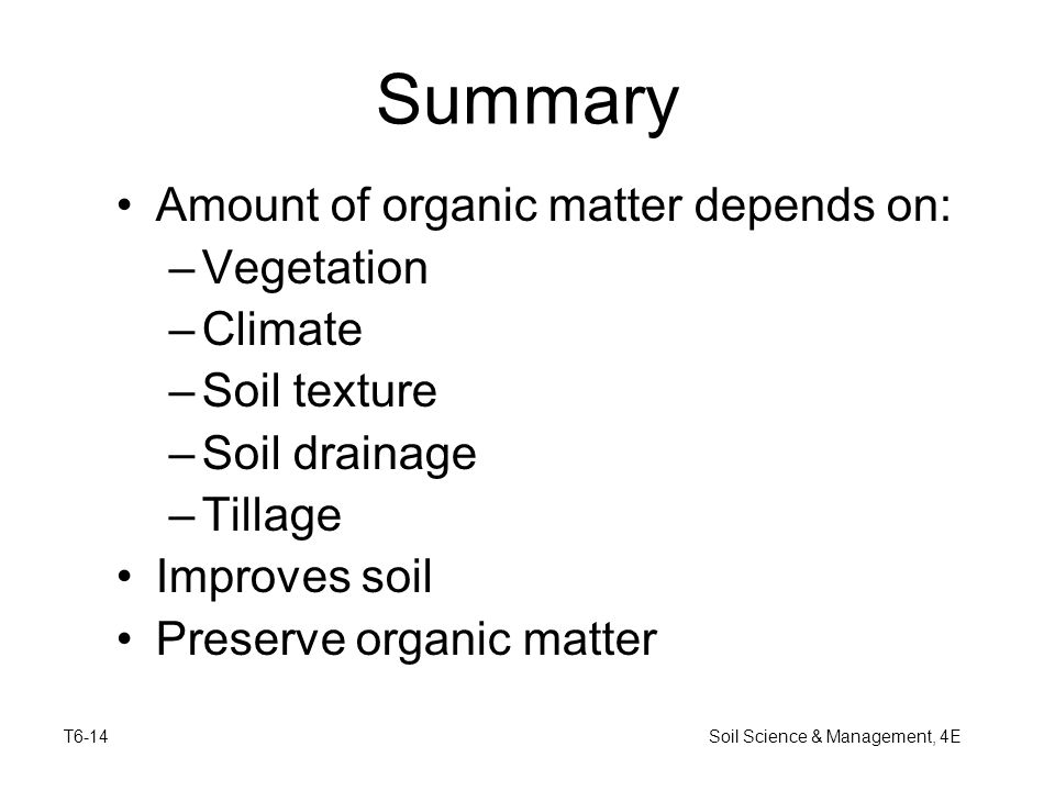 Soil science management 4e ppt video online download for Soil organic matter pdf