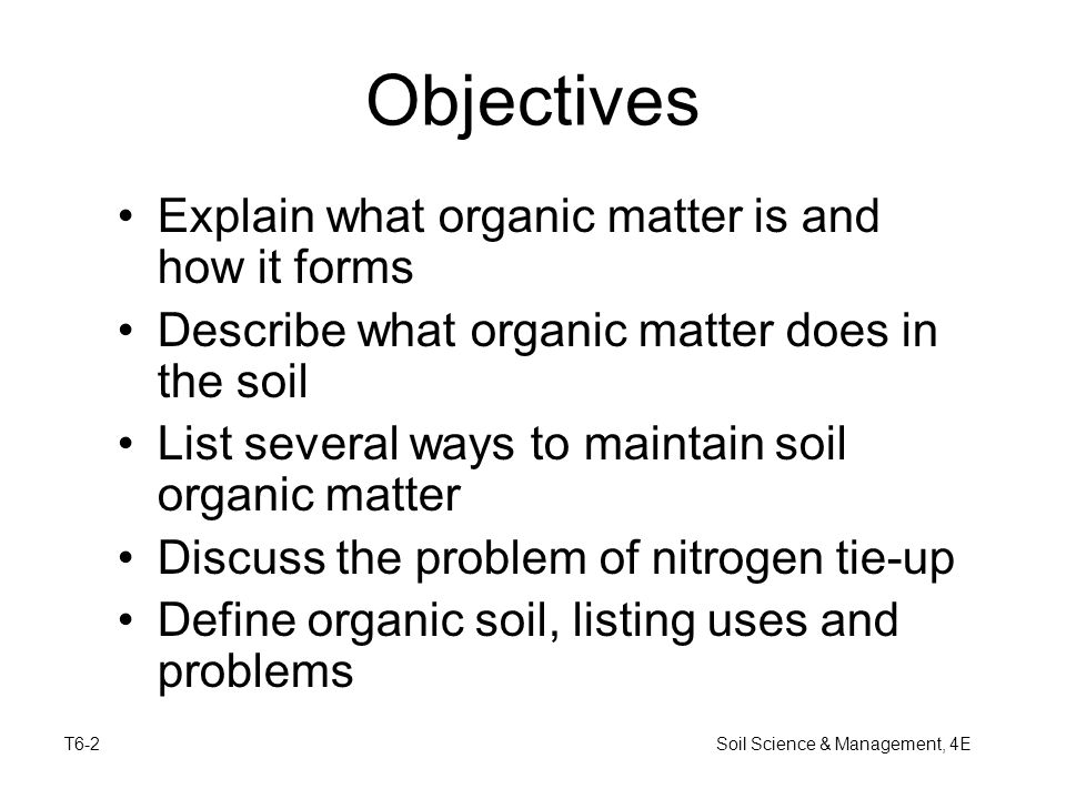 Soil science management 4e ppt video online download for Organic soil definition