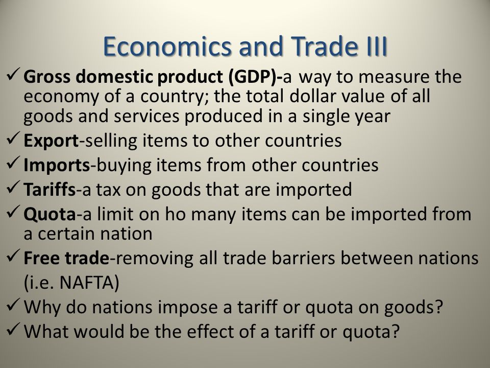 composition of trade the type of goods and services exported and imported in australia Answer to 1 terms of trade refers to what goods are imported b what goods are exported c the volume of trade the prices at which trade occurs a 2 the.