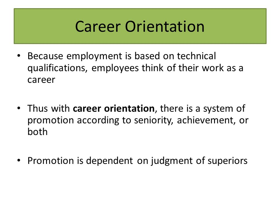 career orientation Since 2009, a visit to a careers information centre has been part of the  compulsory subject of career orientation for pupils in years 7 and 8 of.