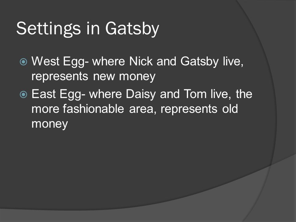 the great gatsby old money vs An analysis of the divide between old money and new money and how it is represented in the great gatsby.