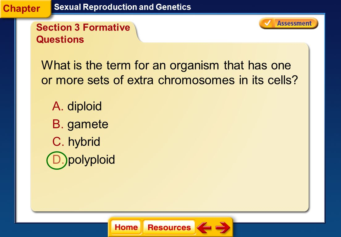 What is the term for an organism that has one