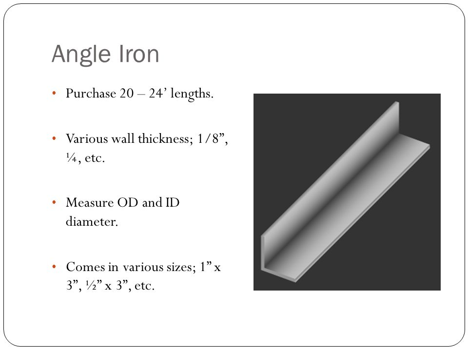 13 angle iron