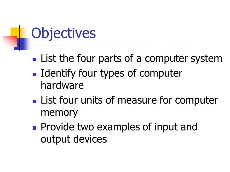 memory is a three part system Computer hardware includes the physical parts or components of  mediates communication between the cpu and the other components of the system, including main memory.