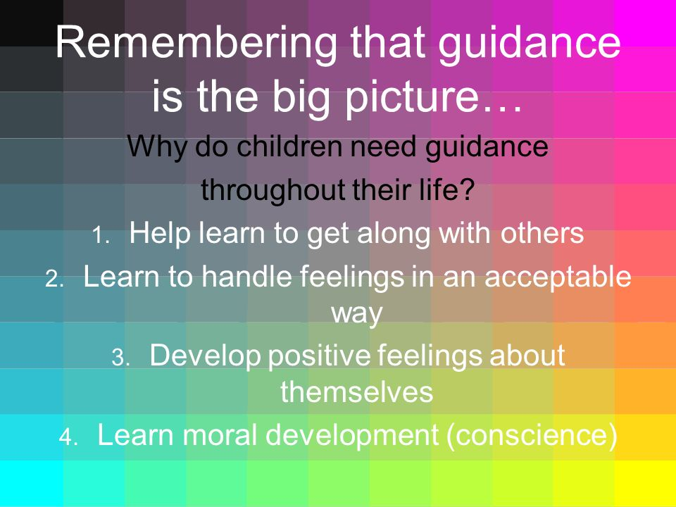 Remembering that guidance is the big picture…