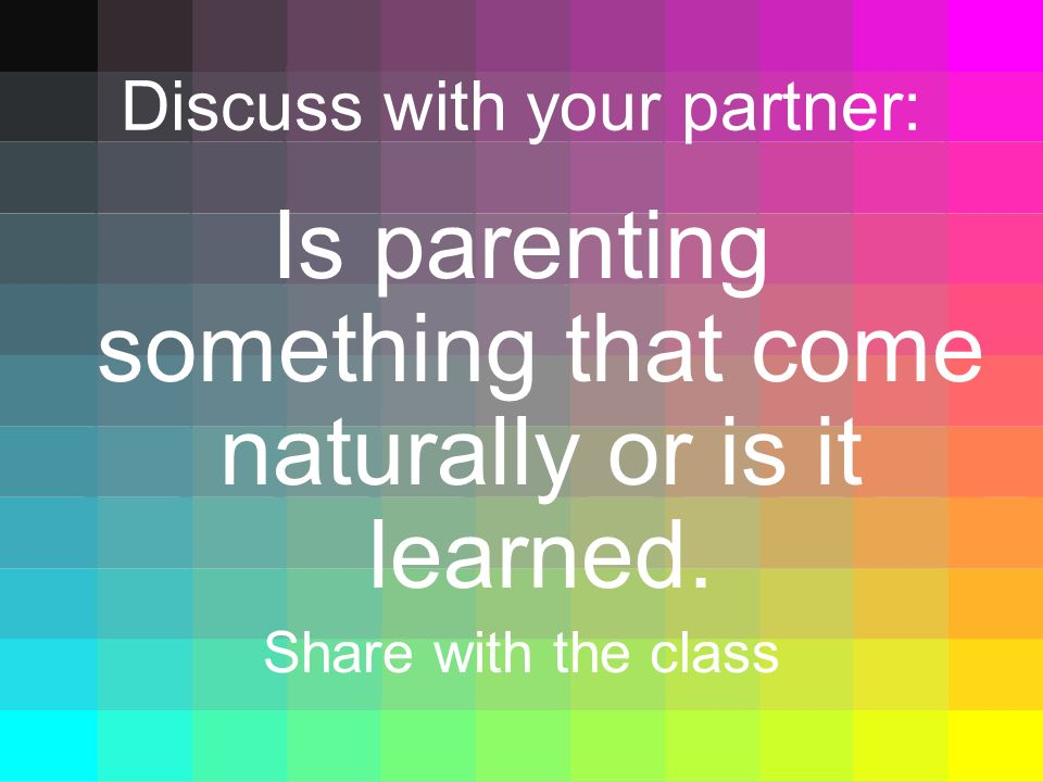 Discuss with your partner: