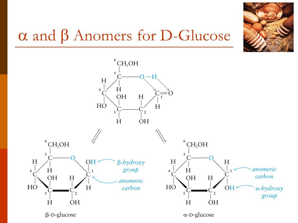  and  Anomers for D-Glucose
