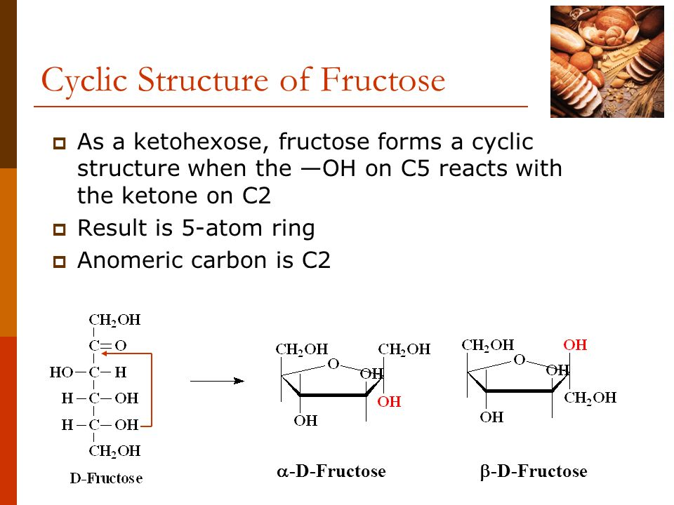 Cyclic Structure of Fructose
